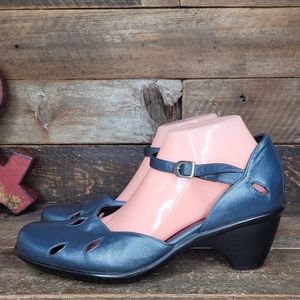 Comfortable Dansko Blue Leather Mary Jane Shoes